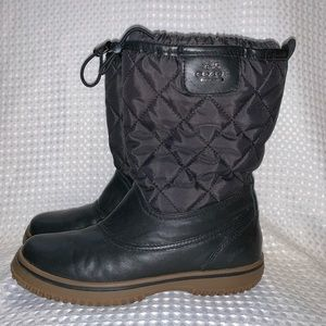 Coach Samara quilted/leather boots size 6.5 GUC